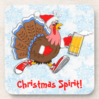 Christmas Tipsy Turkey (Beer) Coaster