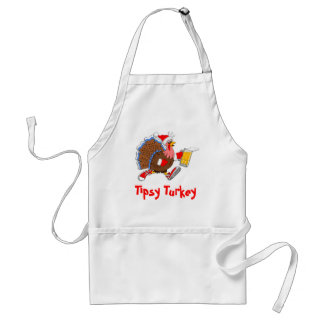 Christmas Tipsy Turkey (Beer) Standard Apron