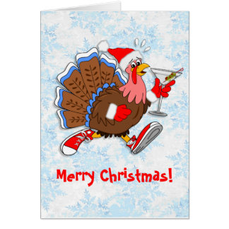 Christmas Tipsy Turkey (Martini) Card