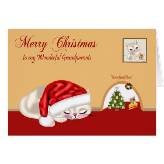 Christmas To Grandparents Greeting Card