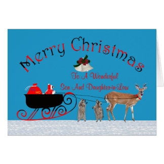 Christmas To Son/Daughter-in-Law Greeting Card