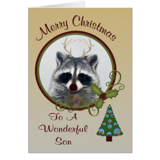 Christmas To Son Greeting Card