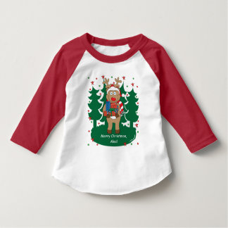 Christmas Toddler Raglan Tee/Rudolph's Got Gifts T-Shirt