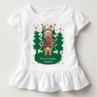 Christmas Toddler Ruffle Tee/Rudolph's Got Gifts Toddler T-Shirt