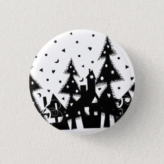 Christmas Town 3 Cm Round Badge