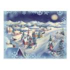 CHRISTMAS TOWN by SHARON SHARPE Postcard