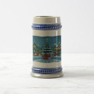christmas town holiday beer stein mugs