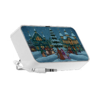 christmas town winter holiday mp3 speakers