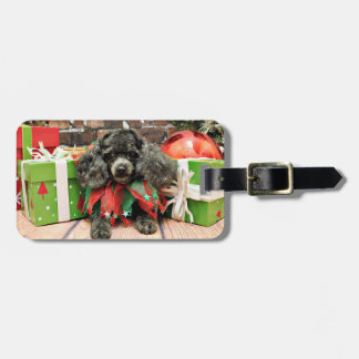 Christmas - Toy Poodle - Annie Luggage Tag