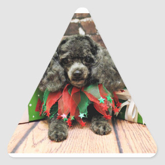 Christmas - Toy Poodle - Annie Stickers