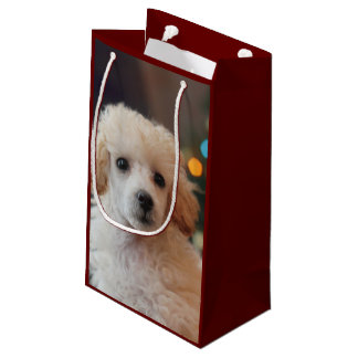 Christmas toy poodle dog small Gift Bag