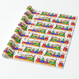 Christmas Toy Train and Jelly Beans Wrapping Paper