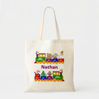 Christmas Toy Train Tote Bag