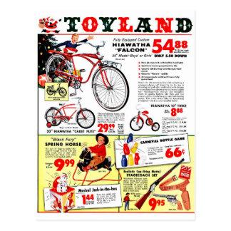 Christmas Toyland Postcard