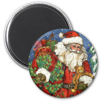 CHRISTMAS TOYS 6 CM ROUND MAGNET