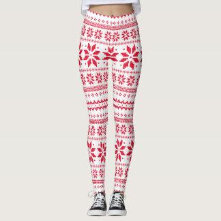 Christmas Traditional Art Pattern Leggings