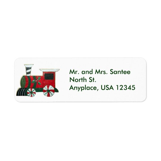 Christmas Train Address Label