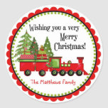 Christmas  Train Holiday Stickers