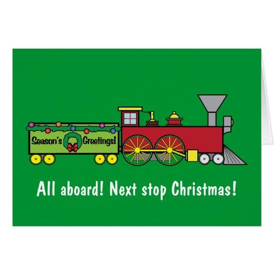 Christmas Train Nephew Card