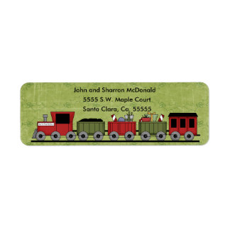 Christmas Train Return Labels