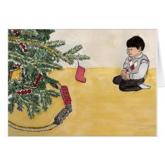 Christmas Trains Card