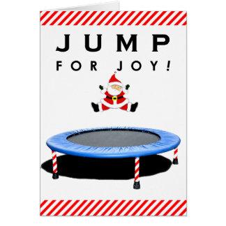 Christmas trampoline cards