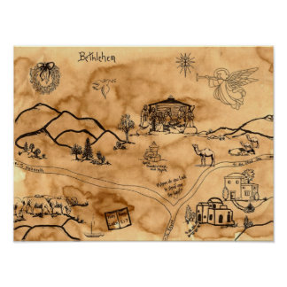 Christmas Treasure Map Poster