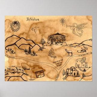 Christmas Treasure Map Poster