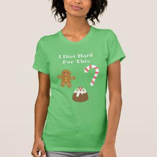Christmas Treats Gingerbread Man Pudding Candy Tee Shirts