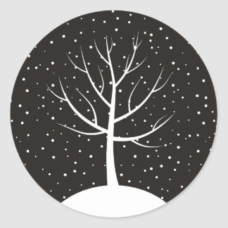 Christmas tree3 classic round sticker