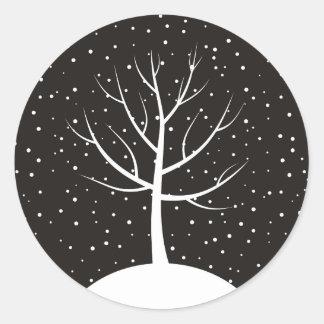Christmas tree3 round sticker