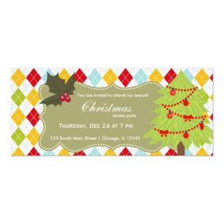 Christmas tree 10 cm x 24 cm invitation card