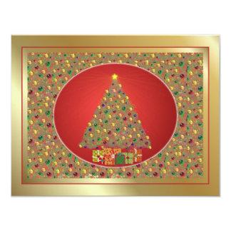 Christmas Tree 11 Cm X 14 Cm Invitation Card