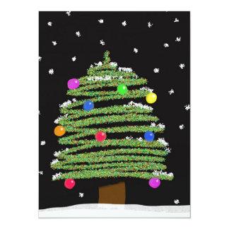 Christmas Tree 14 Cm X 19 Cm Invitation Card