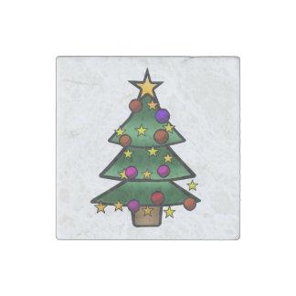 Christmas Tree 1 Stone Magnet