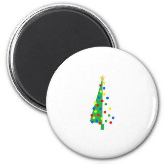 Christmas Tree 6 Cm Round Magnet