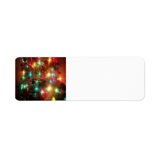 Christmas Tree Address Label