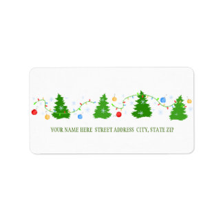 Christmas Tree Address Mailing Labels