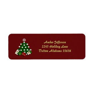 Christmas Tree Address Stickers Return Address Label