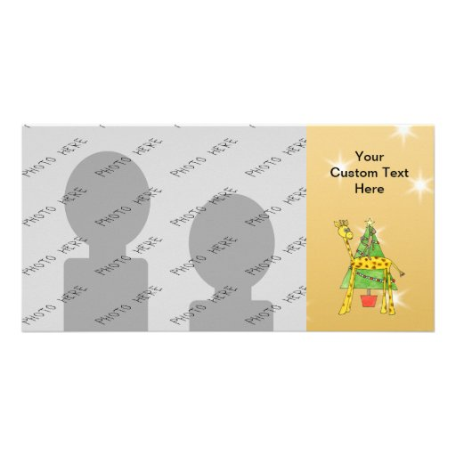 Christmas Tree and Animals. Picture Card