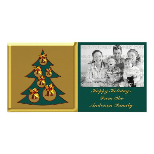Christmas Tree and Bells Photo Card