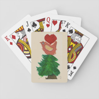 Christmas Tree and Bird Playing Cards