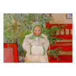 Christmas Tree and Child in Furs Greeting Card
