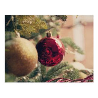 Christmas tree and decoration postcards