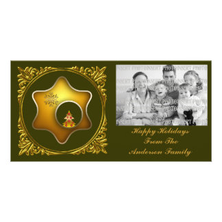 Christmas Tree and Gold Star Photo Card