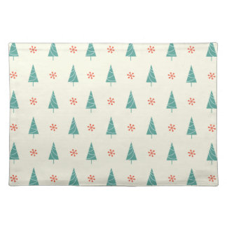 Christmas Tree And Red Snowflakes Placemat