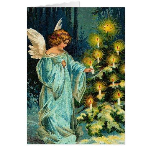 Christmas Tree Angel Card