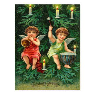 Christmas Tree Angels Postcards