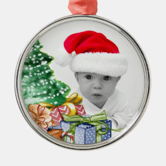 Christmas Tree Art Custom Photo Christmas Ornament