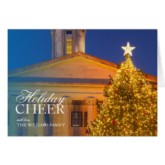 Christmas tree at the Tennessee Capitol Building Card